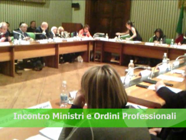 Incontro Ministri e Ordini Professionali