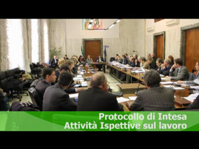 Protocollo di Intesa Attività Ispettive sul lavoro